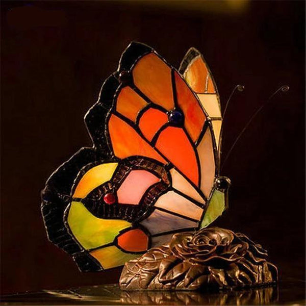 Butterfly Stained Glass Table Lamp night lamp