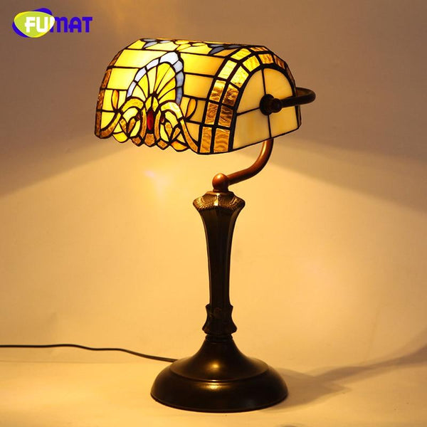 Stylish Baroque Stained Glass Table Lamps