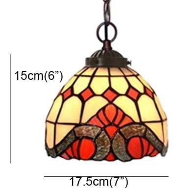 Stained colored Glass Shade Pendant Lamp-Decorative Pendant Lamp-B-Khadiza Electricals