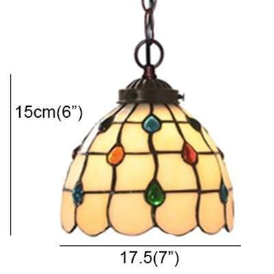 Stained colored Glass Shade Pendant Lamp-Decorative Pendant Lamp-A-Khadiza Electricals
