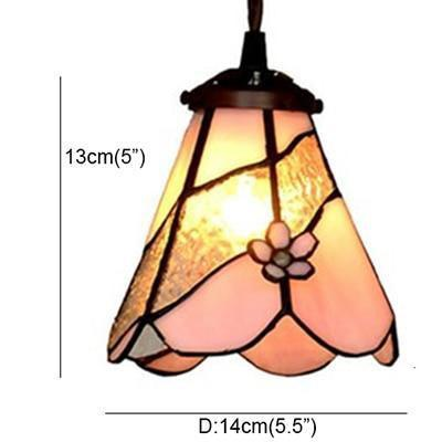 Stained colored Glass Shade Pendant Lamp-Decorative Pendant Lamp-C-Khadiza Electricals