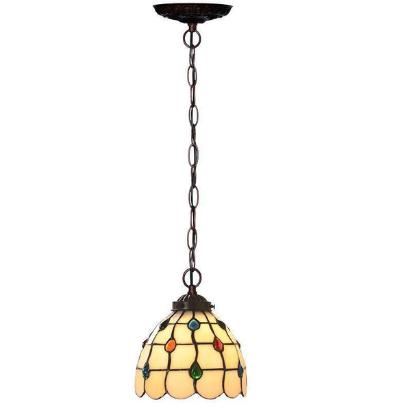 Stained colored Glass Shade Pendant Lamp-Decorative Pendant Lamp-[variant_title]-Khadiza Electricals