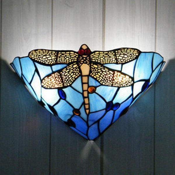 Dragonfly  Stained Glass Wall Lamp