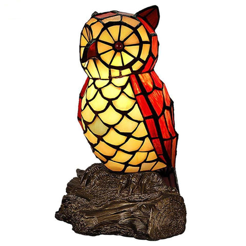 Owl Shaped Glass Night Light One