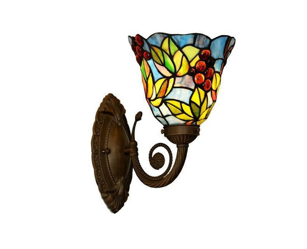 Buy Grape Stained Glass Wall Lamp Online-Decorative Wall Lamp-[variant_title]-Khadiza Electricals