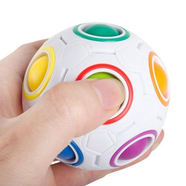 Plastic Press button Fidget Ball-Funny But Useful-Multi-Khadiza Electricals