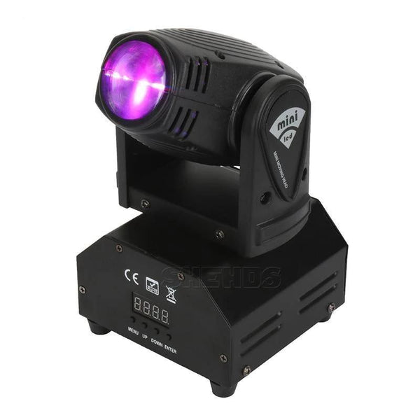 Mini  RGBW Moving Head LED  Beam Light 10W-DJ Lights & Sound-UK Plug-Khadiza Electricals