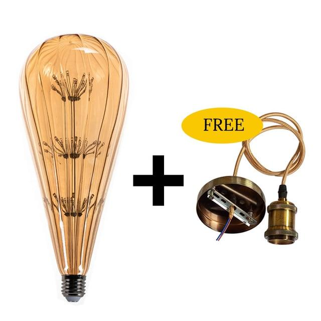 Starry Sky led lamp with Free pendant Holder (E27 Base)-Decorative Pendant Lamp-Golden HanglampXbulb-Khadiza Electricals