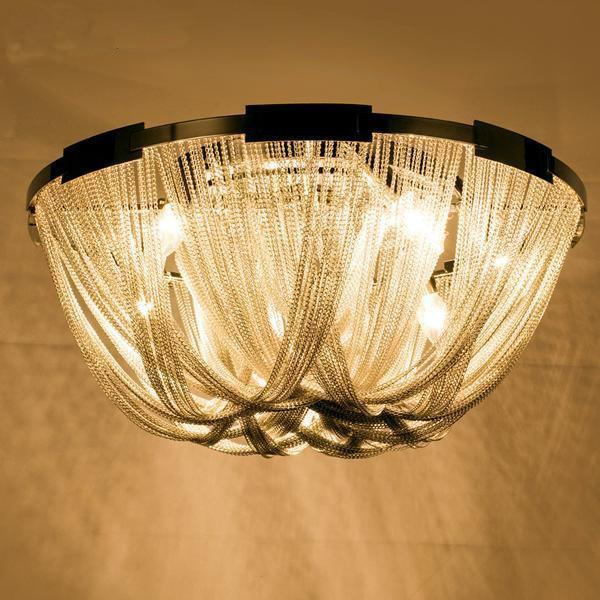 French Aluminum Chain Chandelier-Decorative Chandelier-[variant_title]-Khadiza Electricals