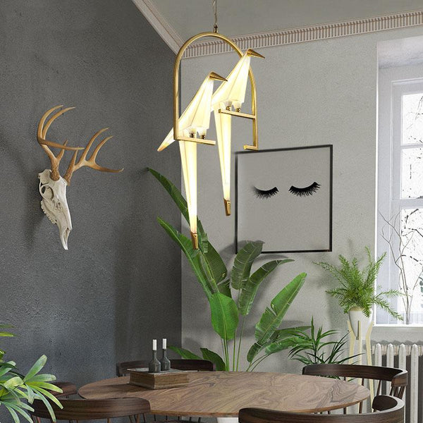 Gold Bird Cage Paper Wall Light