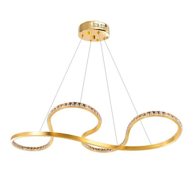 Golden LED Crystal Lustre Pendant Lamp