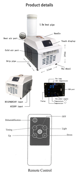 DESKTOP AIR CONDITIONER (PORTABLE, CAMPING , OUTDOOR, INDOOR, 3740 BTU)