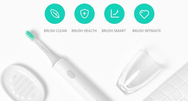 APP Controlled Electric Smart Waterproof Toothbrush with Wireless Charging