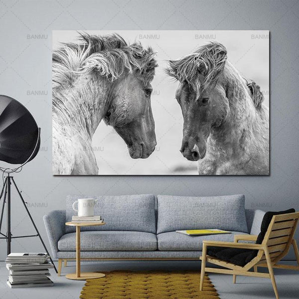 Animal canvas painting  for Home Wall decor-Non Electric Home Decor-WP0251 / 20X30cmX1PC no frame-Khadiza Electricals