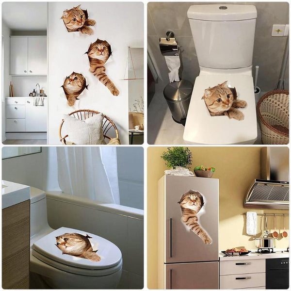 3D Cats Wall Sticker-Non Electric Home Decor-[variant_title]-Khadiza Electricals
