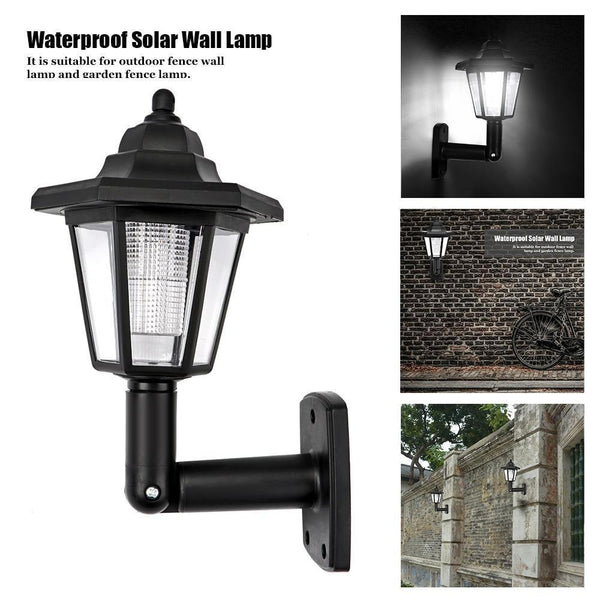2pcs Waterproof Hexagonal Cool White Solar Wall Lamp with Auto ON/OFF-Solar Outdoor Wall Lamp-[variant_title]-Khadiza Electricals