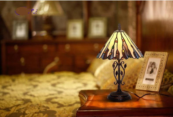 Tiffany Stained Glass Table Lamp-Decorative Table Lamp-[variant_title]-Khadiza Electricals