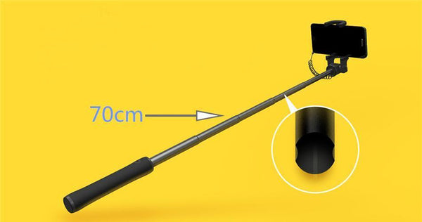 Wired Monopod Selfie Stick with Extendable Handheld Shutter