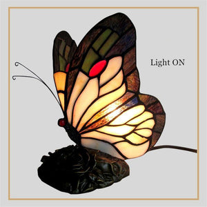 Butterfly Stained Glass Night Lamp-Decorative Night Lamp-Default title 0-Khadiza Electricals