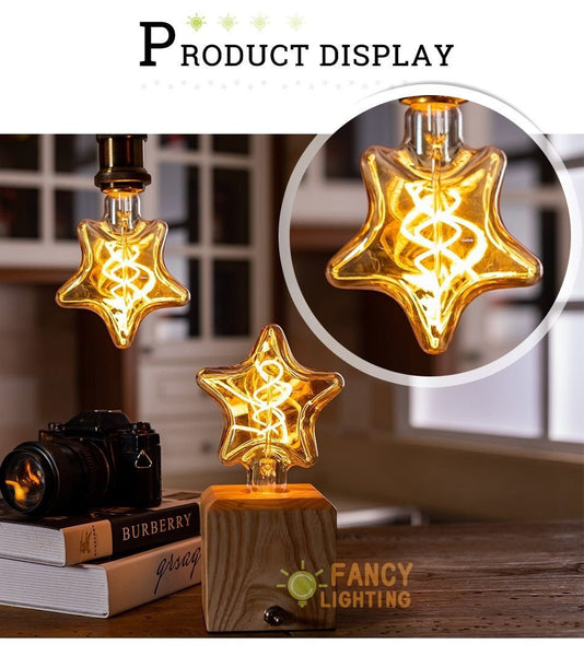 Star Shaped Spiral Filament LED Lamp-Decorative Night Lamp-[variant_title]-Khadiza Electricals
