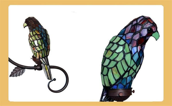 Parrot Stained Glass Pendant Light-Decorative Pendant Lamp-1 head green-Khadiza Electricals