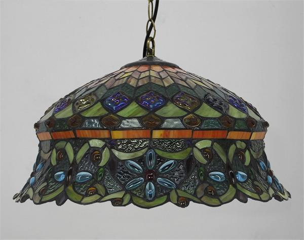 Flower shaped Stained Glass pendant lamp