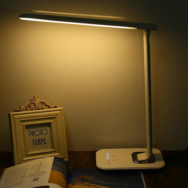 Fold-able and Dim-able LED Multi-function Table Lamp with Eye protection, Touch Sensor(1000 lm, 12W)-Decorative Table Lamp-[variant_title]-Khadiza Electricals