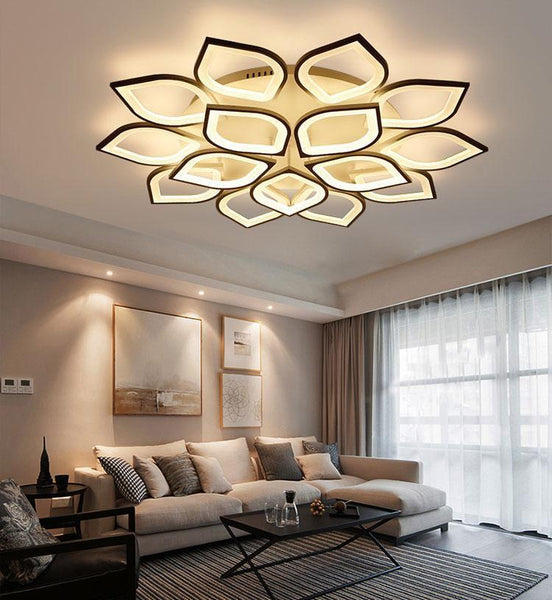 Clematis Flower Shaped LED chandelier with remote control-Decorative Chandelier-[variant_title]-Khadiza Electricals