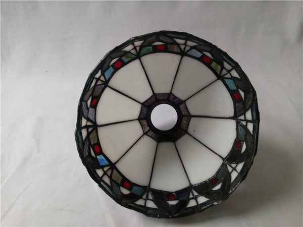 Vintage Baroque Stained Glass Chandelier-Decorative Chandelier-[variant_title]-Khadiza Electricals