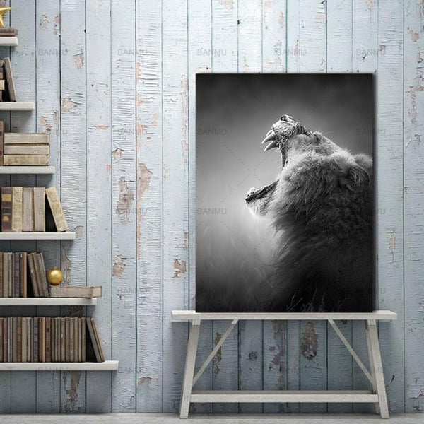 Animal canvas painting  for Home Wall decor-Non Electric Home Decor-WP0250 / 20X30cmX1PC no frame-Khadiza Electricals