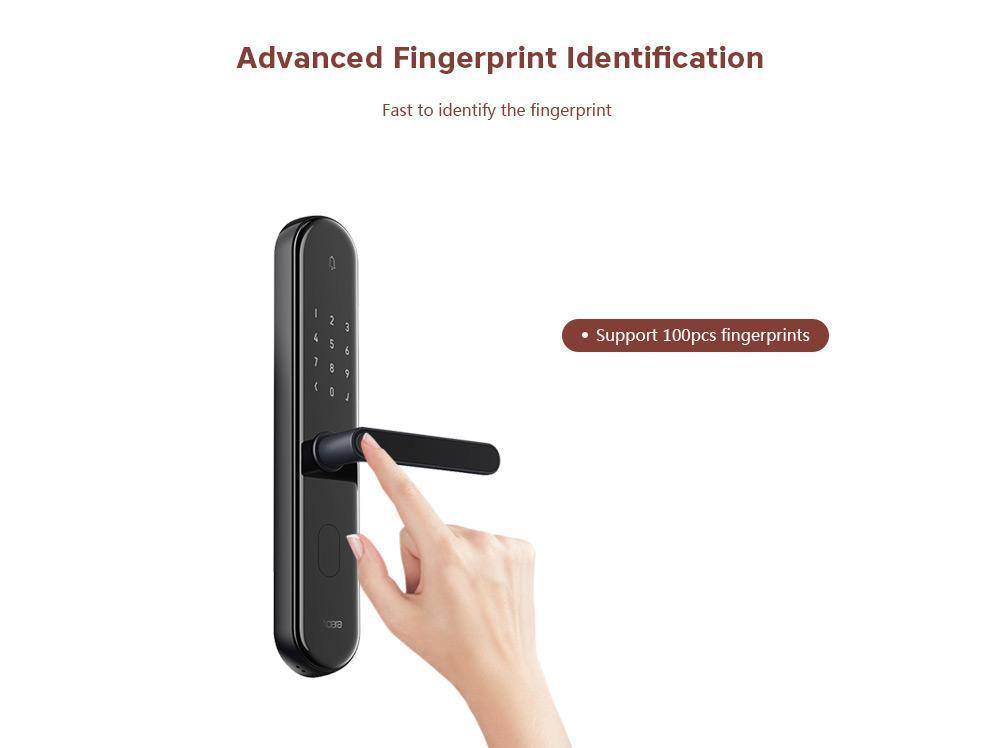 App Controlled Smart Door Lock with Fingerprint Scanner-Other Electrical Products-Thickness 96 120mm-Khadiza Electricals
