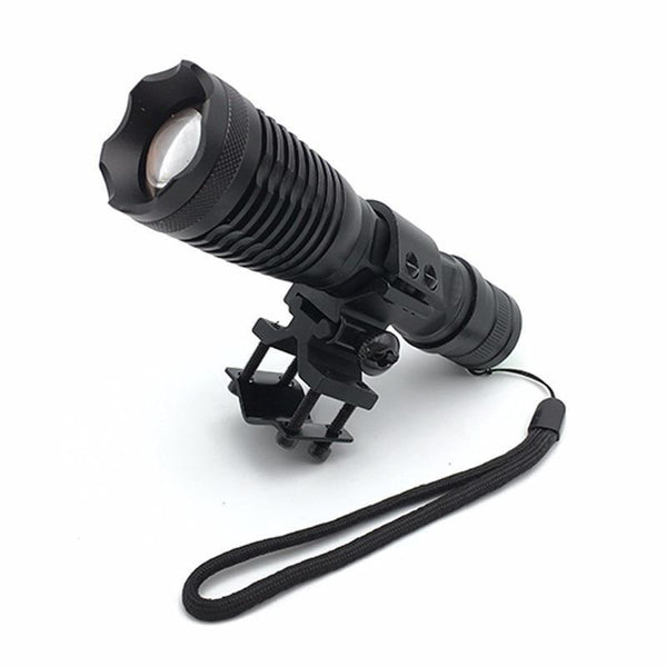 Zoomable T6 LED Flashlight for Hunting (9000Lm, 1*18650 battery, Remote Switch, Chargeable, with Gun Mount)-Flashlight/ Torch-[variant_title]-Khadiza Electricals