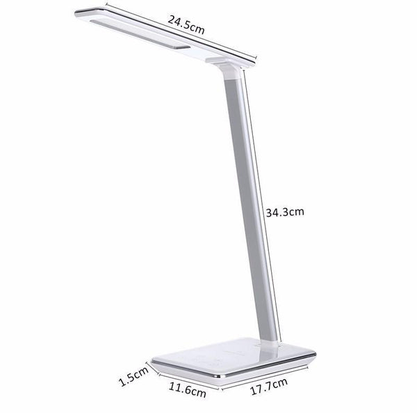 Folding LED Table Lamp with Eye Protection and Qi Wireless Mobile Charger