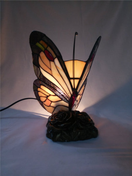 Butterfly Stained Glass Night Lamp-Decorative Night Lamp-[variant_title]-Khadiza Electricals