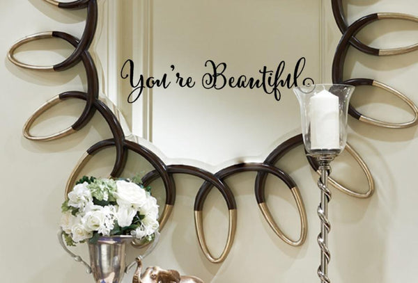 'You Are Beautiful'  - Wall Stickers (Removable)-Non Electric Home Decor-[variant_title]-Khadiza Electricals