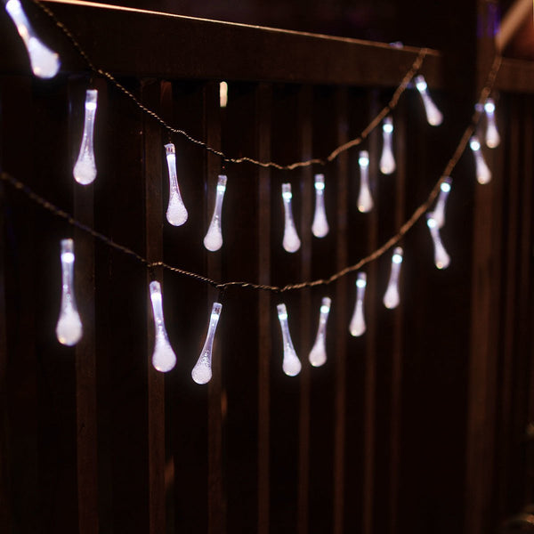 Water Drop LED String Light Solar