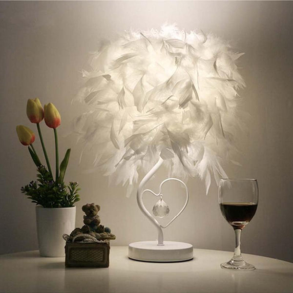 Attractive Feather Table Lamp Light for Reading Room Sitting Room (EU, US, UK, AU Plug)-Decorative Table Lamp-[variant_title]-Khadiza Electricals