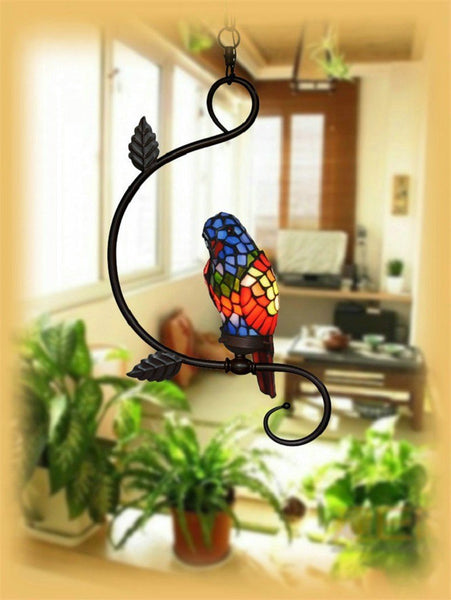 Parrot Stained Glass Pendant Light-Decorative Pendant Lamp-[variant_title]-Khadiza Electricals