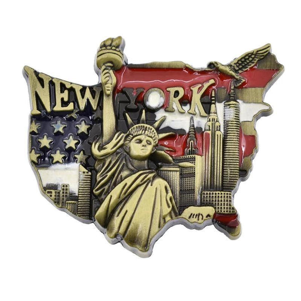 Statue of Liberty Metal Fridge Magnet-Non Electric Home Decor-[variant_title]-Khadiza Electricals