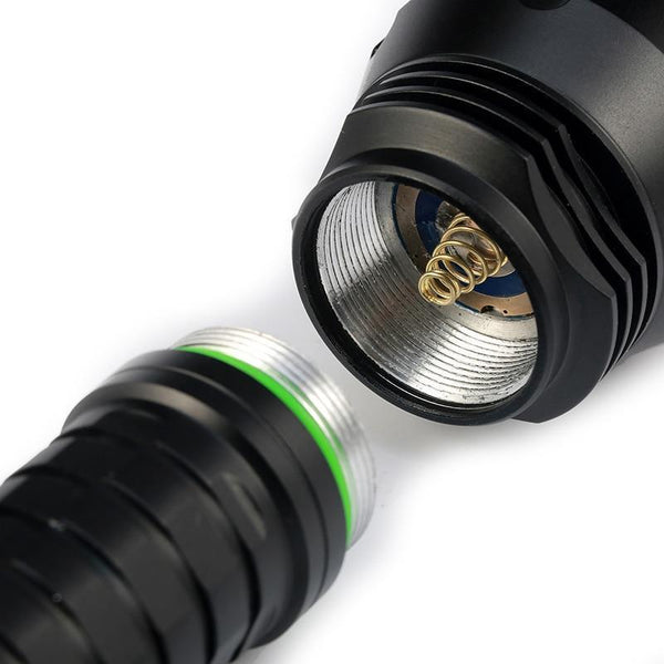 Natural Cool White LED Flashlights(10000LM, 18650 battery)-Flashlight/ Torch-[variant_title]-Khadiza Electricals