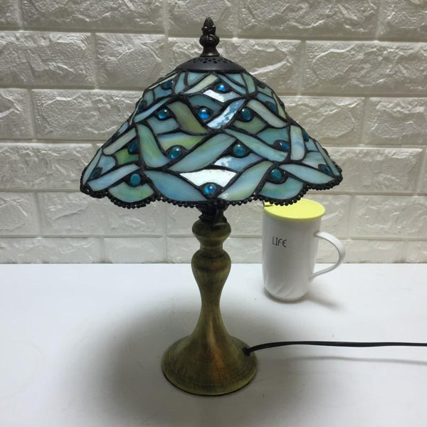 Stylish Multicolor Glass Table Lamp-Decorative Table Lamp-[variant_title]-Khadiza Electricals