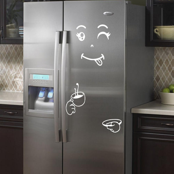 'Happy & Delicious' Fridge Wall Stickers for Decoration-Non Electric Home Decor-[variant_title]-Khadiza Electricals