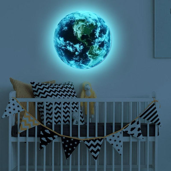 3D Luminous blue earth Wall Stickers for Home Decor-Non Electric Home Decor-[variant_title]-Khadiza Electricals