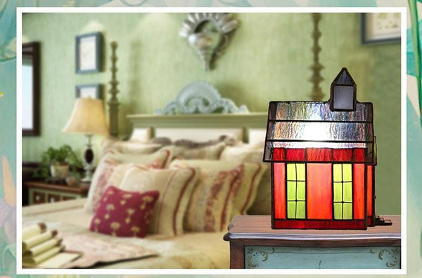 Home Shaped Glass Table Lamp-Decorative Night Lamp-[variant_title]-Khadiza Electricals
