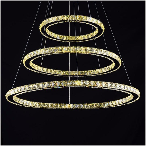 Crystal Circle Chandelier-Decorative Chandelier-[variant_title]-Khadiza Electricals
