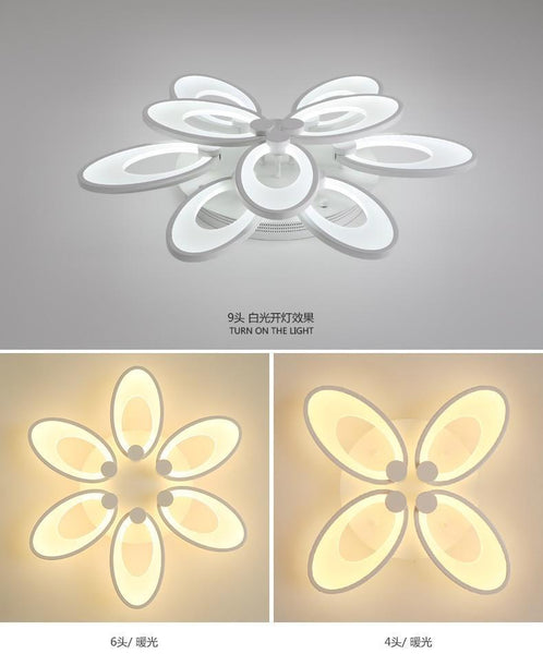 Gaillardia Flower Shaped LED Chandelier with App Control-Decorative Chandelier-4 heads / Warm white no remote-Khadiza Electricals
