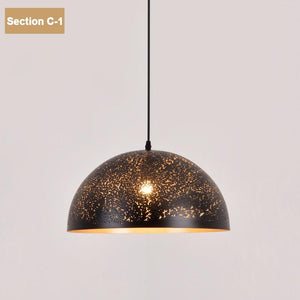 Moroccan Metal Down Pendant Lamp (E27)