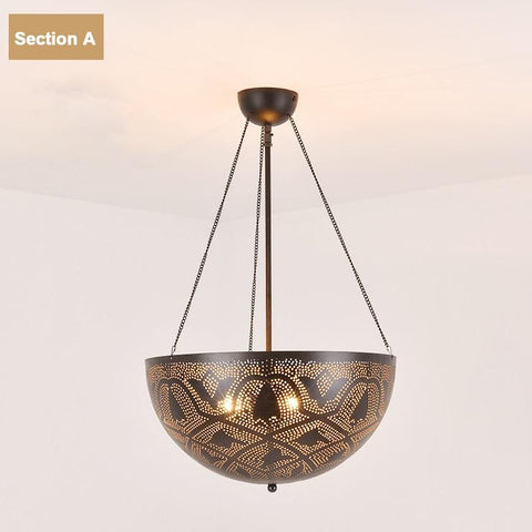 Moroccan Metal Up Pendant Lamp (E27)