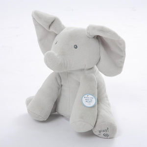 Peekaboo Singing Elephant-Toy-peek a boo / 28cm-Khadiza Electricals