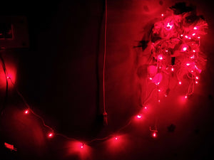 Hand made LED Chain (set Of 10 pcs)-[product_type]-50 Bulbs / Red / Rest Of The World-Khadiza Electricals